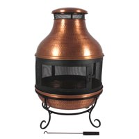 Better Homes & Gardens Copper Chiminea Fire Pit, Wood Fuel