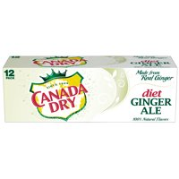 Diet Canada Dry Ginger Ale, 12 Fl Oz Cans, 12 Count