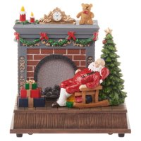 Holiday Time Fire Place Scene
