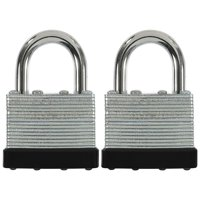 Hyper Tough 40mm Laminated Steel Padlock with 7/8 in. Shackle, 2 Pack