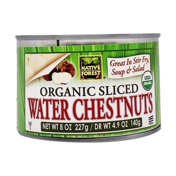 Native forest Organic Sliced Water Chestnuts, 8 oz