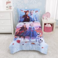 Disney Frozen 2 - Magical Journey 4 Piece Toddler Bed Set - Lavender, Plum and White