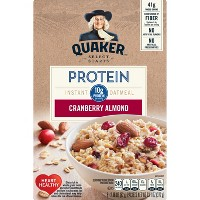 Quaker Protein Cranberry Almond Instant Oatmeal - 6ct