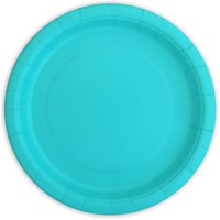 Terrific Teal Paper Dinner Plates, 9in, 20ct