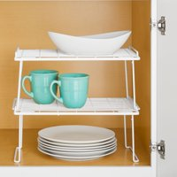 Mainstays Folding Stacking Shelf, White