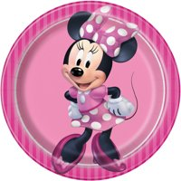Minnie Mouse Paper Dessert Plates, 7in, 8ct