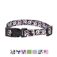 Vibrant Life Patterned Dog Collar, Skull and Bones, Small
