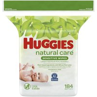 Huggies Natural Care Sensitive Baby Wipes, Unscented, 1 Refill Pack (
