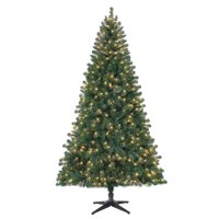 Holiday Time Pre-Lit 7' Duncan Fir Artificial Christmas Tree, Clear-Lights