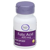 Signature Care Folic Acid 400 Mcg Dietary Supplement