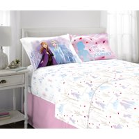 Frozen 2 Sheet Set, Kids Bedding, Microfiber, 3 Piece Twin Size