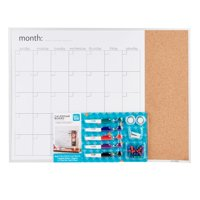 "Pen + Gear Magnetic Dry Erase Combination Calendar Board, 17"" x 23"""
