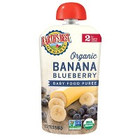 Earth's Best Organic Stage 2 Banana Blueberry Baby Food - 4oz