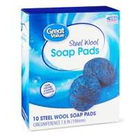 Great Value Steel Wool Soap Pads, 10 Count