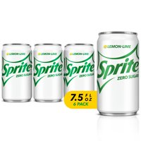 Sprite Zero Sugar Soda, Lemon-Lime, 7.5 Fl Oz, 6 Count