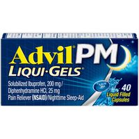 Advil PM Ibuprofen Pain Reliever/Nighttime Sleep Aid Liqui-Gels