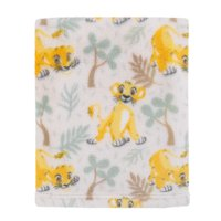 Disney Lion King Simba - Sage, Marigold, Tan Super Soft Baby Blanket