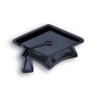 Black Mortarboard Graduation Serving Tray