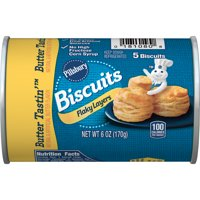 Pillsbury Golden Layers Butter Tastin' Biscuits 5 Ct 6 oz