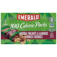 Emerald Natural Walnuts & Almonds with Dried Cherries Packs - 4.69oz/7ct