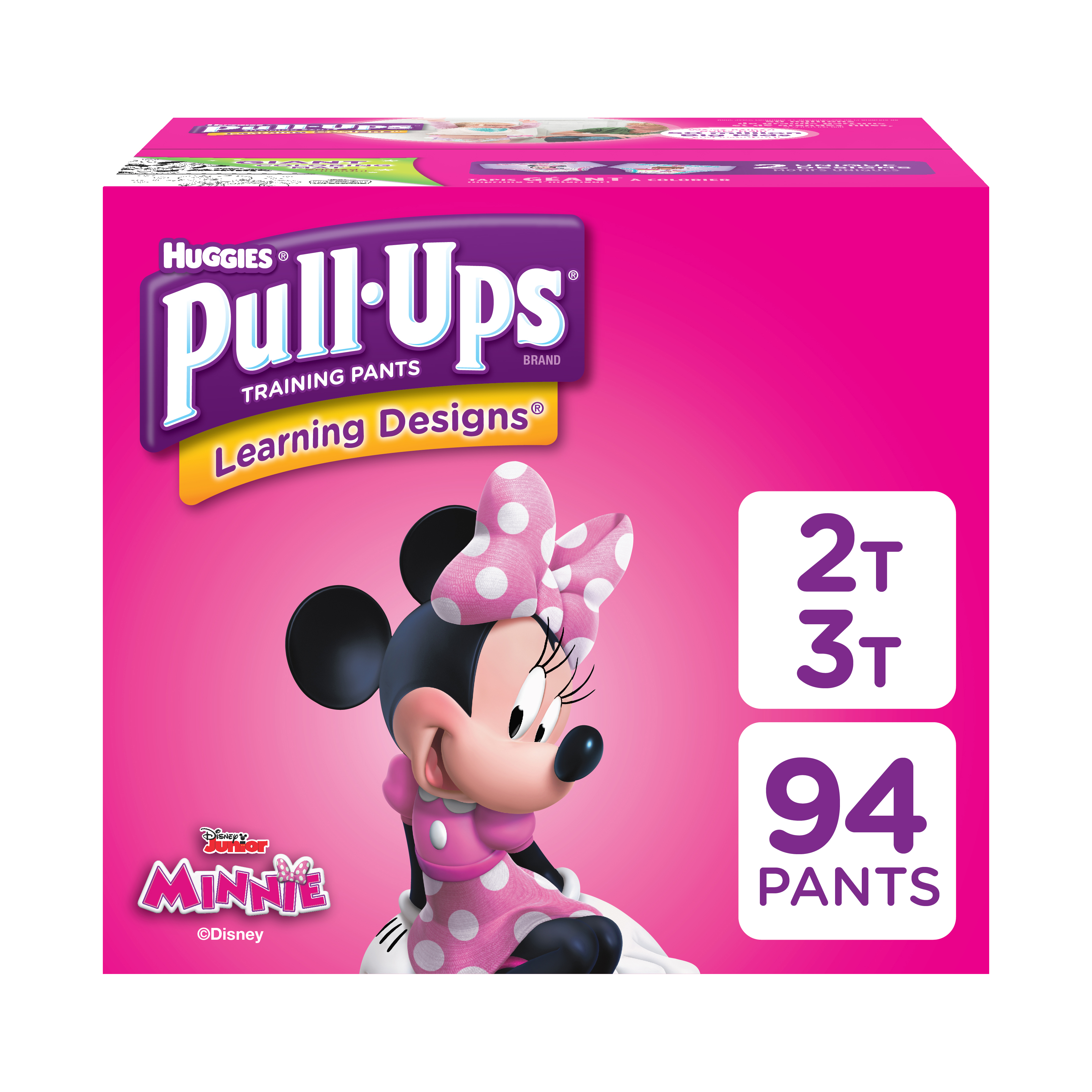 Pull-Ups Girls' Learning Designs Training Pants, Size 2T-3T, 94 Count