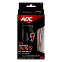 ACE High Performance Compression Short and Cup, Teen, Large/Extra Large, Black, 1/pack