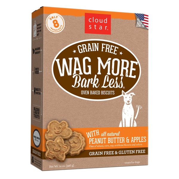 Cloud Star Grain-free Wag More Bark Less Oven-baked Biscuits With All Natural Treats For Dogs