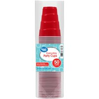 Great Value Everyday Party Cups, 50 Count
