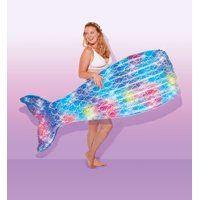 Play Day Inflatable Glitter Sparkles Mermaid Tail Float