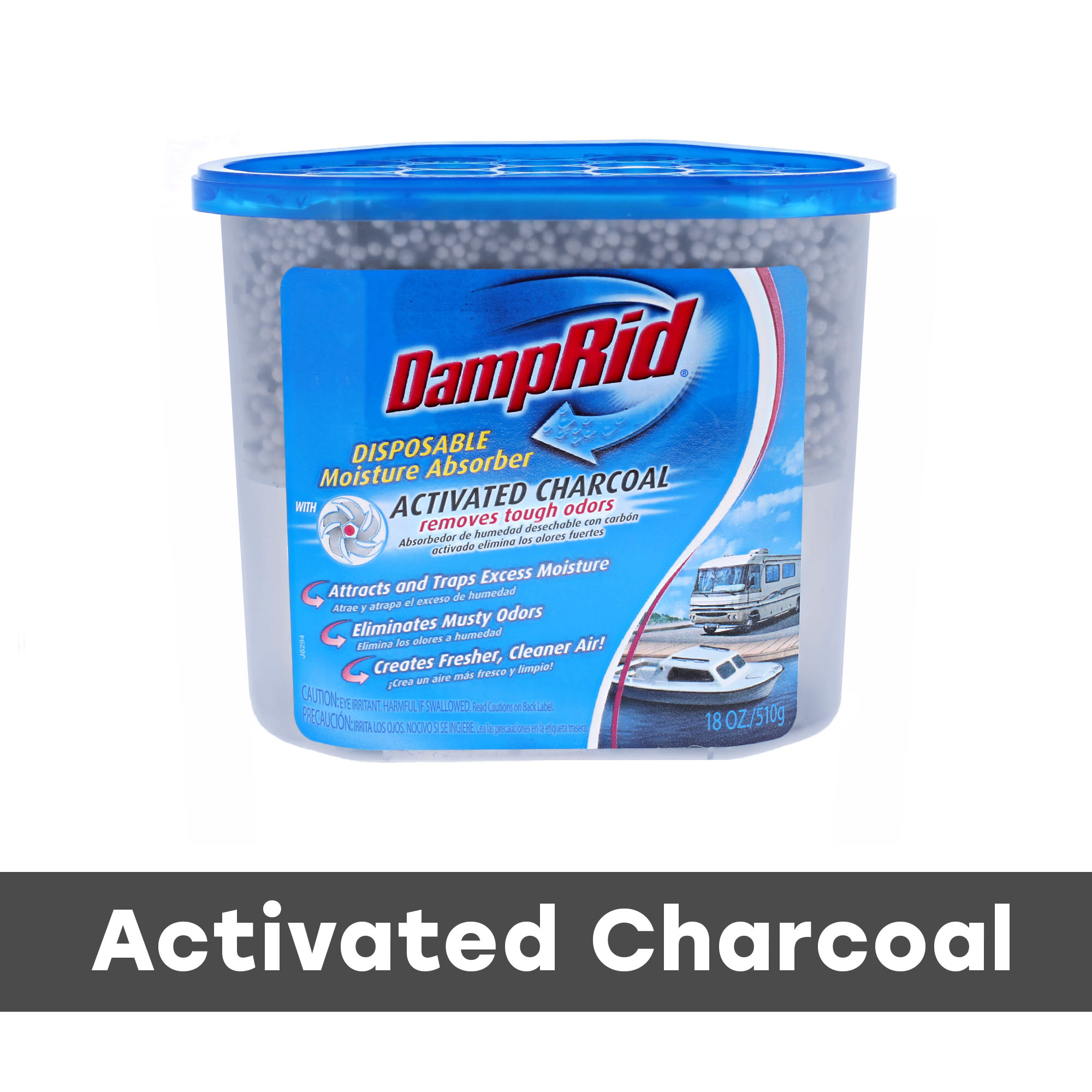 DampRid Fragrance Free Moisture Absorber with Charcoal for Boats & RVs
