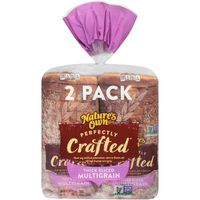 Natures Own Perfectly Crafted Mutligrain Bread, 2 x 20 oz