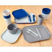 Kids Modern Dinnerware Set, 24 Piece
