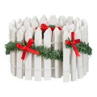 Holiday Time Christmas White Picket Fence Village Accessory, 23.5