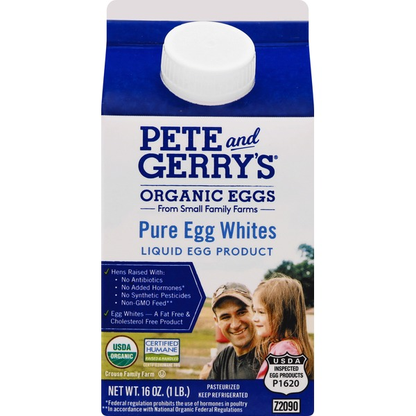 Pete and Gerrys Egg Whites, Pure, Organic