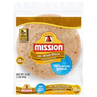 Mission Soft Taco Whole Wheat Tortillas, 10 Count