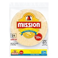 Mission Extra Thin Yellow Corn Tortillas - 24ct