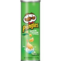 Pringles, Potato Crisps Chips, Sour Cream & Onion Flavored, 5.5 Oz