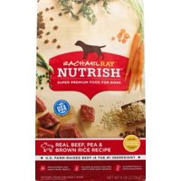 Rachael Ray Nutrish Natural Dry Dog Food, Real Beef, Pea & Brown Rice Recipe, 6 lbs