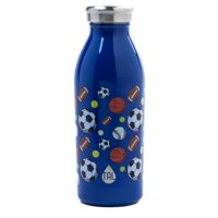 Tal Stainless Steel Double Wall Vacuum Insulated Modern Sport Print 12 Ounce Water Bottle