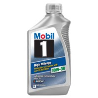 Mobil 1 High Mileage Full Synthetic Motor Oil 10W-30, 1 Quart