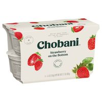 Chobani Yogurt, Greek, Non-Fat, Strawberry, 4 Pack