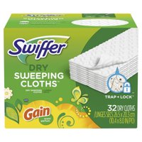 Swiffer Sweeper Dry Sweeping Cloth Refills, with Gain Scent, 32 count