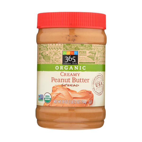 365 Everyday Value® Organic Creamy Peanut Butter, 28 oz