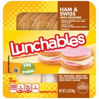 Oscar Mayer Lunchables Lunch Combinations Ham & Swiss with Crackers