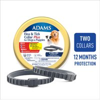 Adams Flea & Tick Collar for Large Dogs, 2 Pack Grey One Size