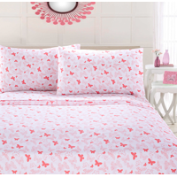 Your Zone Microfiber Butterfly Sheet Set