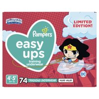 Pampers Easy Ups Justice League Training Underwear Girls Size 6 4T-5T 74 Count