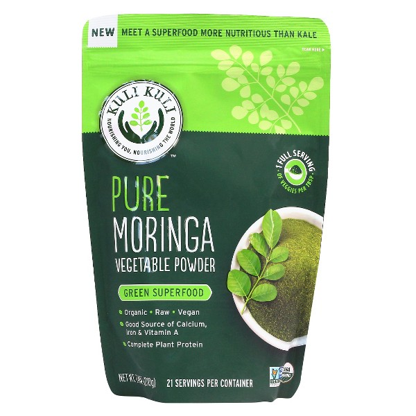 Kuli Kuli Pure Organic Vegan Moringa Vegetable Powder - Green Superfood - 7.4oz
