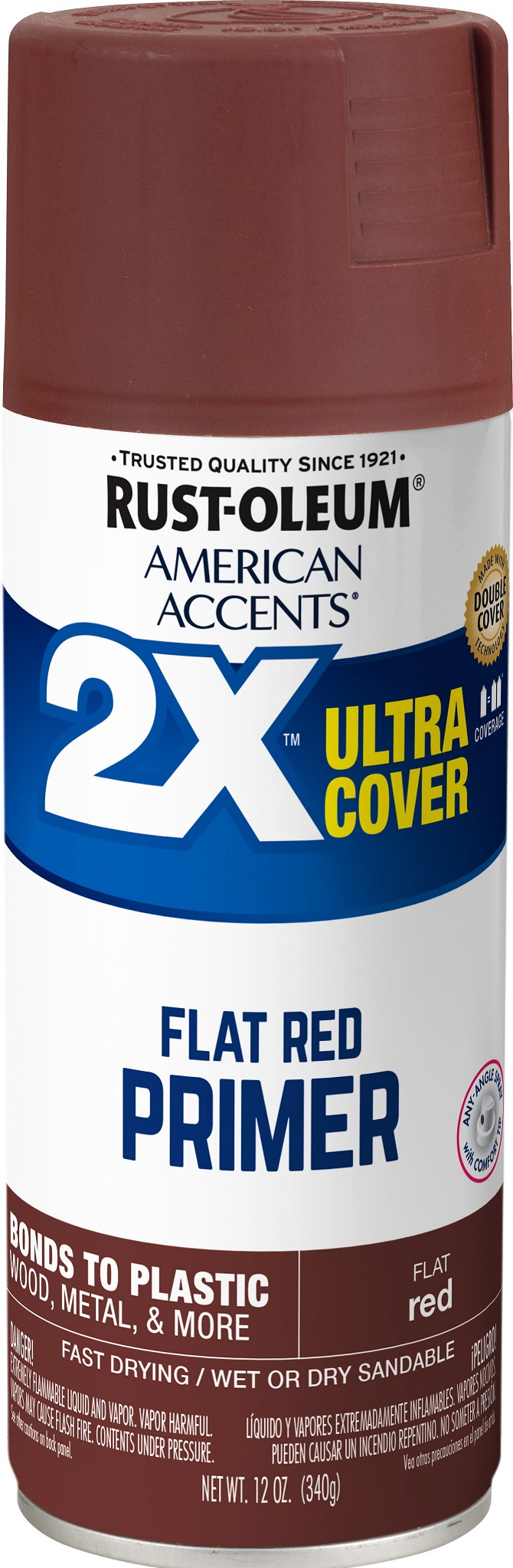 (3 Pack) Rust-Oleum American Accents Ultra Cover 2X Red Primer Spray Paint, 12 oz