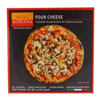 Pizza Romano Four Cheese with Roasted Mushrooms and Tropea Onions Frozen Pizza